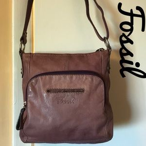 Fossil Shoulder Bag Plum/ Purple